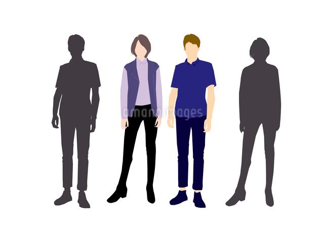 男性と女性のイラスト素材 [FYI03063882]