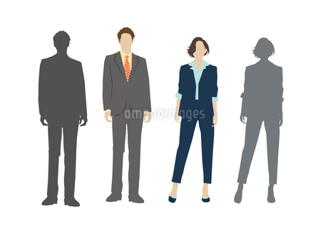 男性と女性のイラスト素材 [FYI03063883]