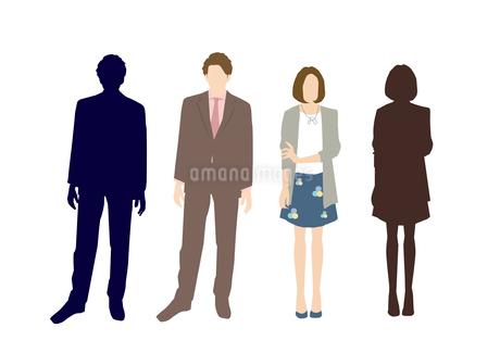 男性と女性のイラスト素材 [FYI03063885]