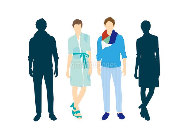 男性と女性のイラスト素材 [FYI03063887]