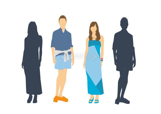 男性と女性のイラスト素材 [FYI03063890]