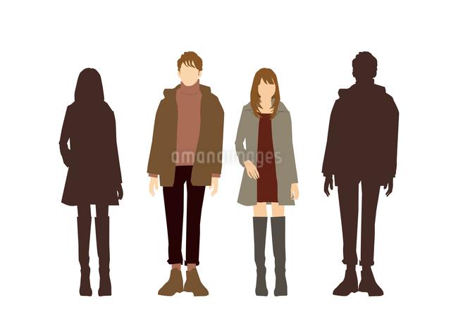男性と女性のイラスト素材 [FYI03063892]