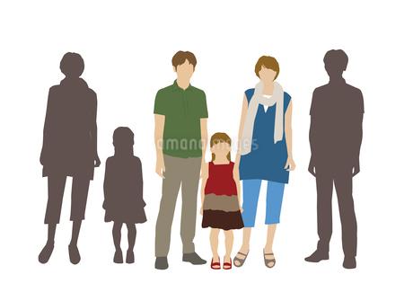 父と母と娘のイラスト素材 [FYI03063893]