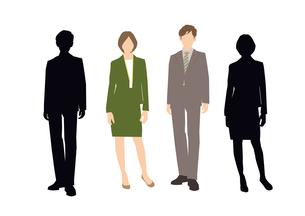 男性と女性のイラスト素材 [FYI03063895]