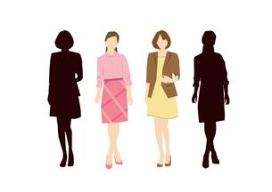 働く女性のイラスト素材 [FYI03063896]
