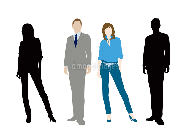 男性と女性のイラスト素材 [FYI03063898]