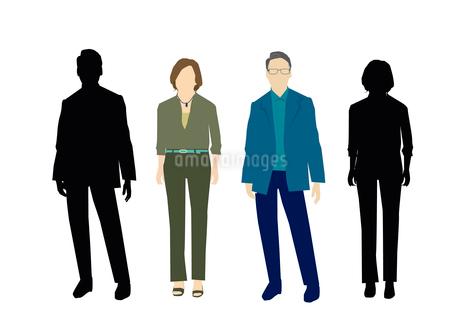 男性と女性のイラスト素材 [FYI03063901]