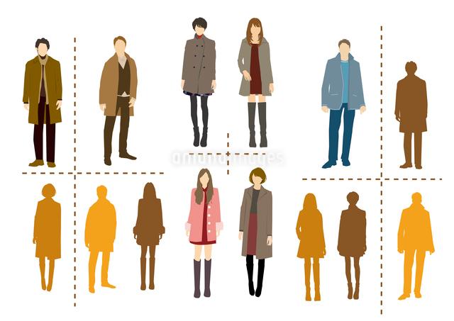 冬の装いイメージのイラスト素材 [FYI03063915]