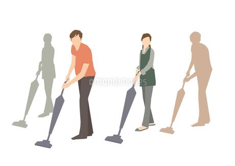掃除機をかけるのイラスト素材 [FYI03063923]