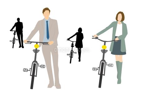 自転車通勤のイラスト素材 [FYI03063933]