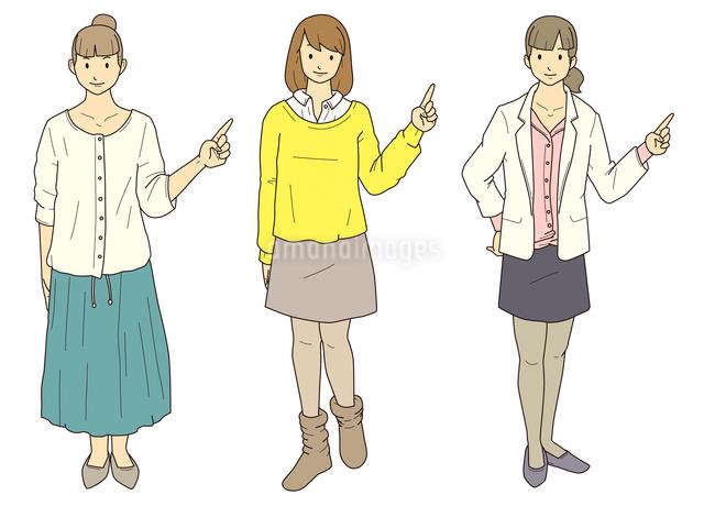 指差し-女性のイラスト素材 [FYI03063948]