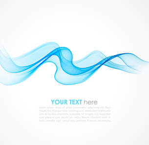 Abstract colorful blue  vector background with curved lines. EPS10のイラスト素材 [FYI03063974]