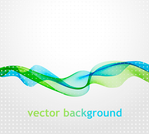 Vector illustration Abstract background with waveのイラスト素材 [FYI03063983]