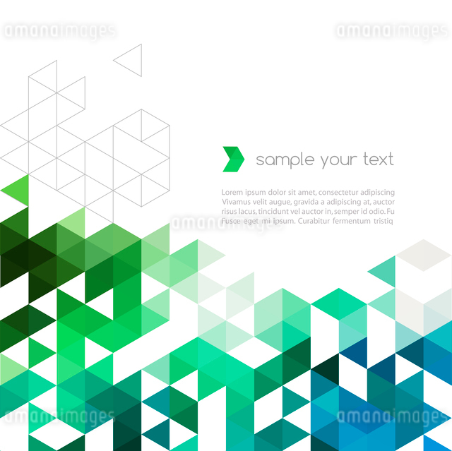 Abstract technology background with color triangle shapes. Vector illustration.のイラスト素材 [FYI03064023]
