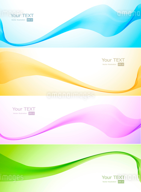 Abstract Vector Wave blue and pink colorのイラスト素材 [FYI03064105]