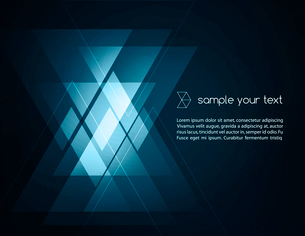 Elegant Geometric Blue Background - Vector Illustration For Business Brochureのイラスト素材 [FYI03064138]