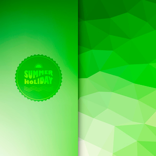Vector illustration of colored abstract background with summer logoのイラスト素材 [FYI03064268]
