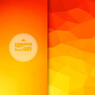Vector illustration of colored abstract background with summer logoのイラスト素材 [FYI03064269]