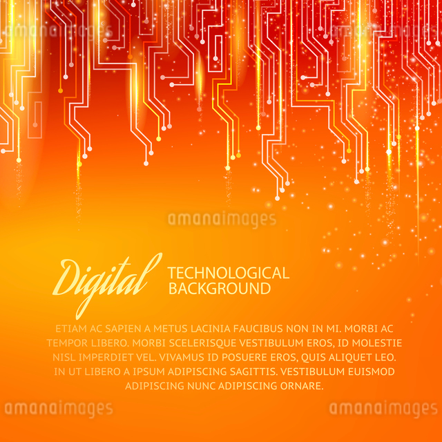 Circuit background with light effect. Vector illustration.のイラスト素材 [FYI03064354]