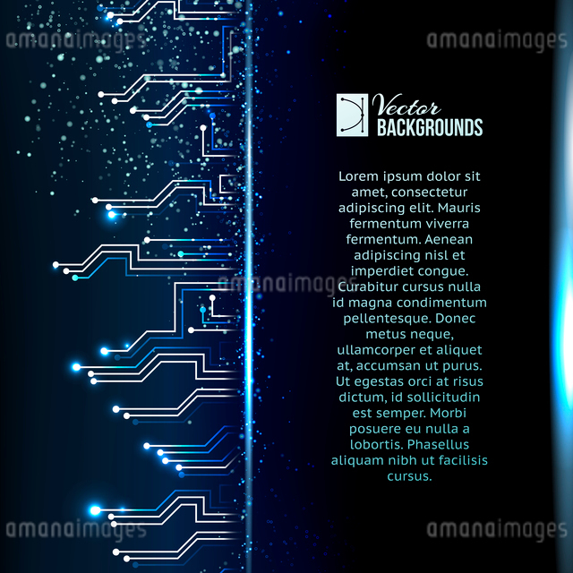Circuit background with light effect. Vector illustration.のイラスト素材 [FYI03064367]