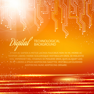 Circuit background with light effect. Vector illustration.のイラスト素材 [FYI03064374]