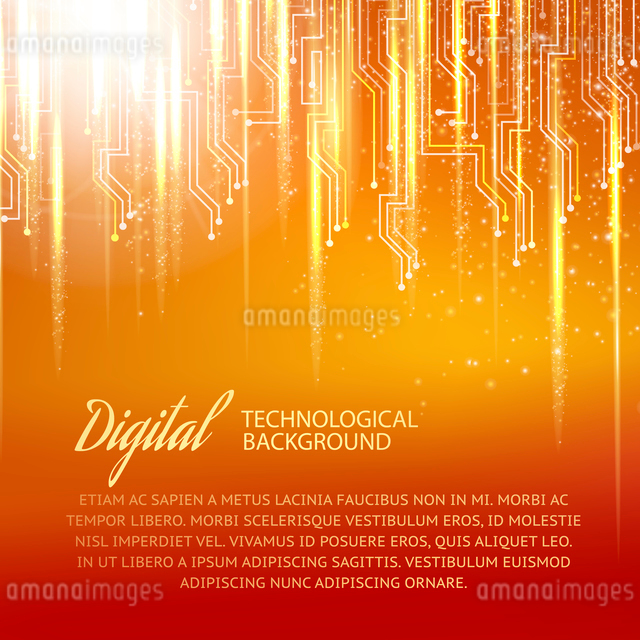 Circuit background with light effect. Vector illustration.のイラスト素材 [FYI03064376]