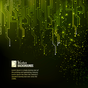 Abstract green lights background. Vector illustration.のイラスト素材 [FYI03064389]