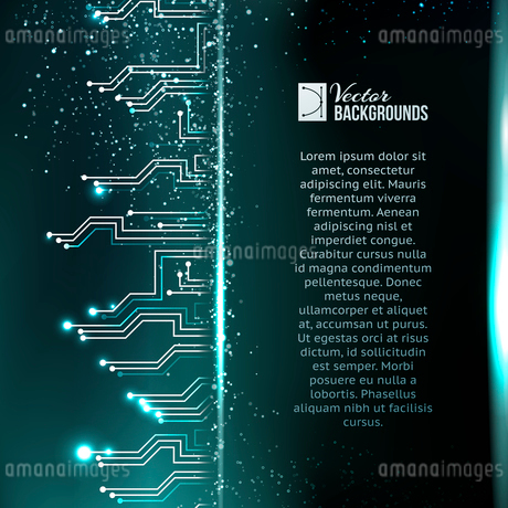 Abstract green lights background. Vector illustration.のイラスト素材 [FYI03064409]