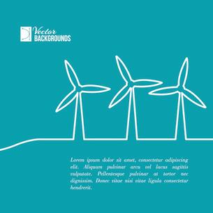 Wind turbines generating electricity. Vector illustration.のイラスト素材 [FYI03064449]
