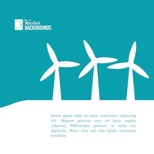 Wind turbines generating electricity. Vector illustration.のイラスト素材 [FYI03064450]