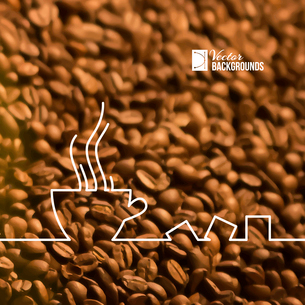 Stylized drawing of a cup of coffee. Vector illustration.のイラスト素材 [FYI03064455]
