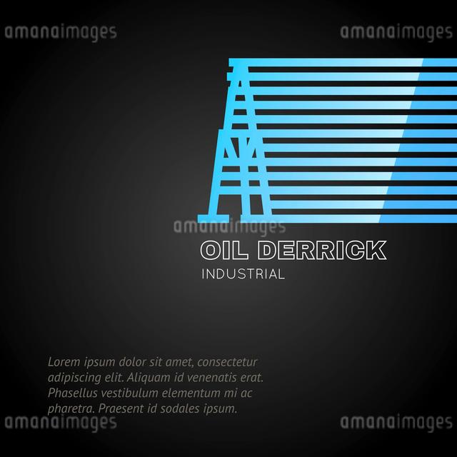 Oil rig icon. Vector illustration.のイラスト素材 [FYI03064460]