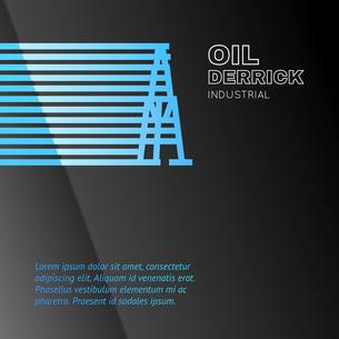 Oil rig icon. Vector illustration.のイラスト素材 [FYI03064470]