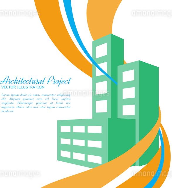 Construction of house at flat design. Vector illustration.のイラスト素材 [FYI03064480]