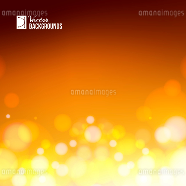 Abstract background of orange magic lights, bokeh. Vector illustration.のイラスト素材 [FYI03064486]