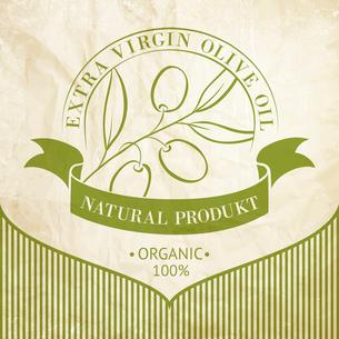 Vintage olive oil label for your design. Vector illustration.のイラスト素材 [FYI03064494]