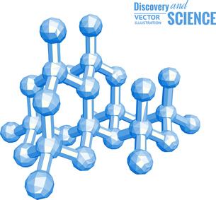 Science molecule in 3d. Vector illustration.のイラスト素材 [FYI03064555]