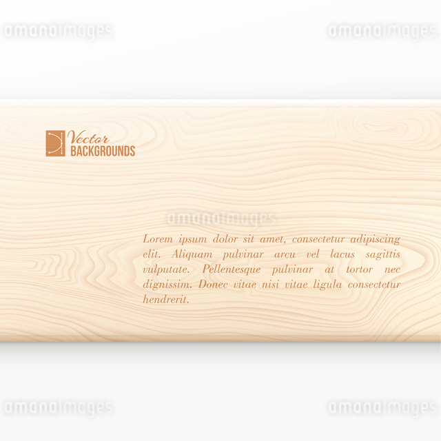 Wooden board on white background. Vector illustration.のイラスト素材 [FYI03064575]