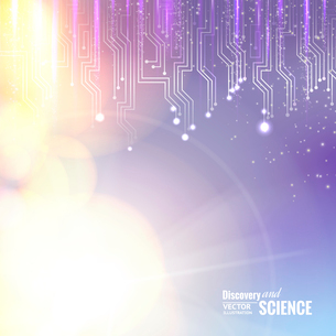 Science circuit abstraction for your technology design. Vector illustration.のイラスト素材 [FYI03064589]