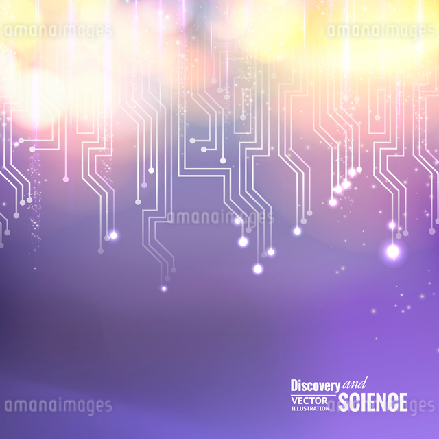 Science circuit abstraction for your technology design. Vector illustration.のイラスト素材 [FYI03064591]