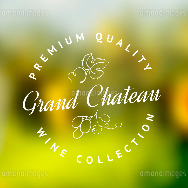 Logo of the famous winery chateau collection. Vector illustration.のイラスト素材 [FYI03064594]