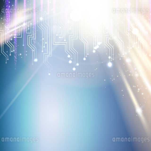 Shining circuit background for your technical design. Vector illustration.のイラスト素材 [FYI03064613]