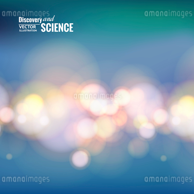 Bokeh lights line over blue backdrop. Vector illustration.のイラスト素材 [FYI03064624]