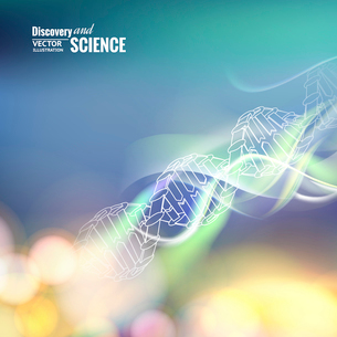 Science concept image of DNA. Vector illustration.のイラスト素材 [FYI03064626]