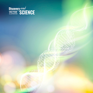 Science concept image of DNA. Vector illustration.のイラスト素材 [FYI03064628]