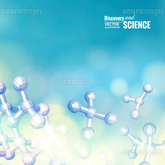Atom molecule abstraction. Vector illustration.のイラスト素材 [FYI03064630]