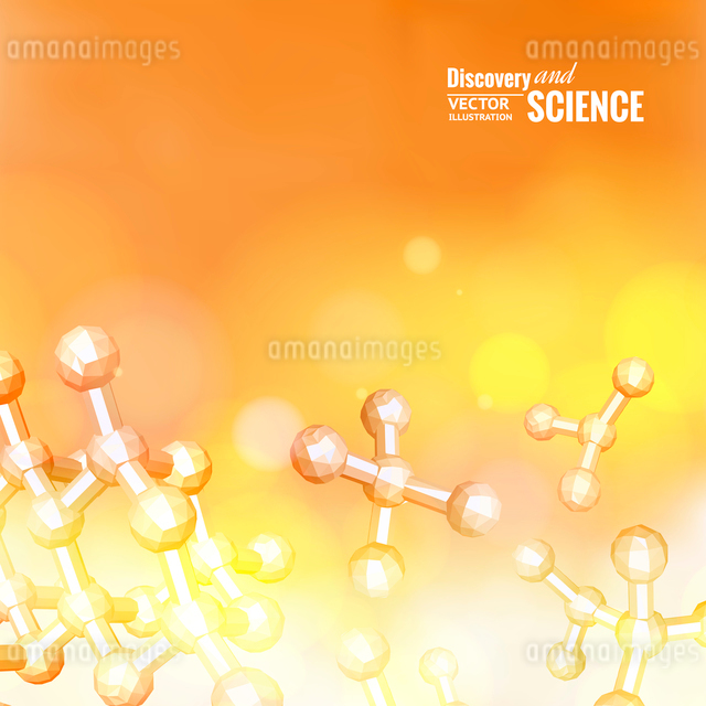 Atom molecule abstraction. Vector illustration.のイラスト素材 [FYI03064634]