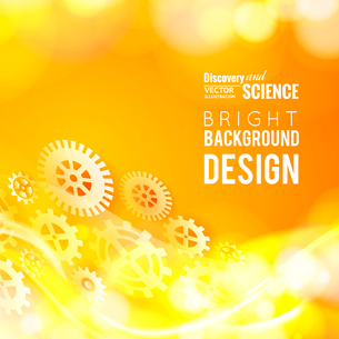 Glow gears placed over abstract background. Vector illustration.のイラスト素材 [FYI03064637]