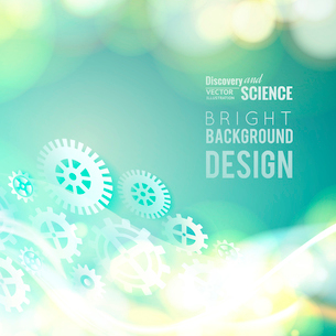 Glow gears placed over abstract background. Vector illustration.のイラスト素材 [FYI03064640]