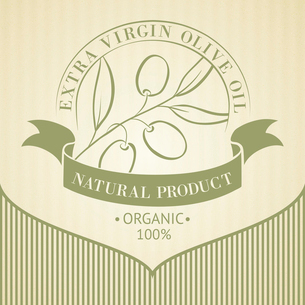 Vintage olive oil label for your design. Vector illustration.のイラスト素材 [FYI03064676]